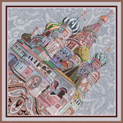 Scarf St. Basil's Cathedral (morning)