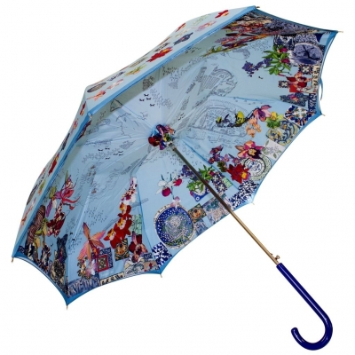 Stick umbrella double sided Orchid's trip