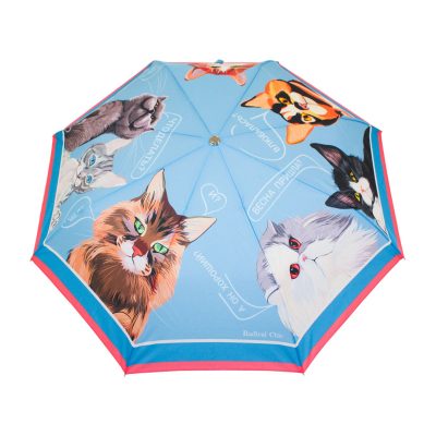 Folding umbrella Cats talk about love