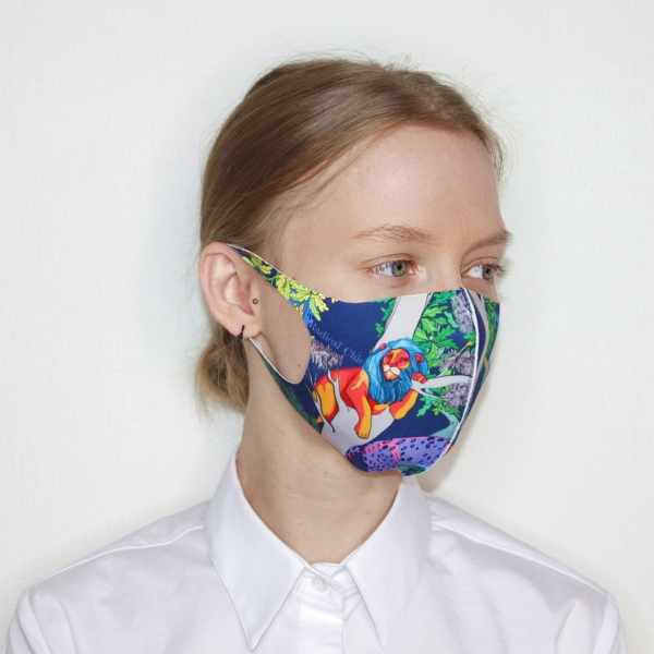 Textile mask Jungle by night
